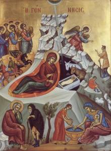 Modern Icon of the Nativity