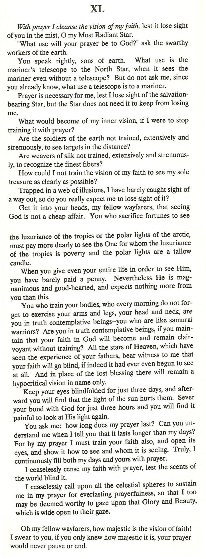 on prayer